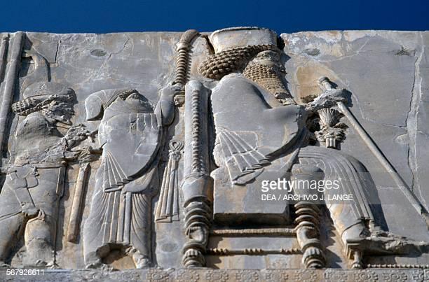 King Darius I basrelief Persepolis Iran Achaemenid civilisation 6th5th century BC