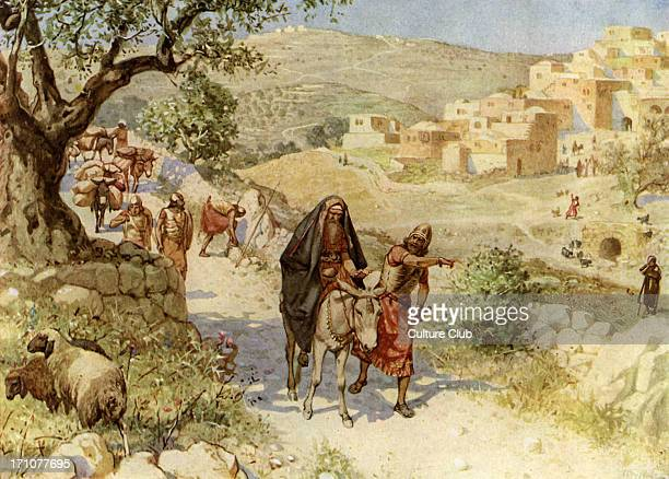 King David fleeing from Jerusalem is cursed by Shimei 2 Samuel 16 5 8 'And when king David came to Bahurim behold thence came out a man of the family...
