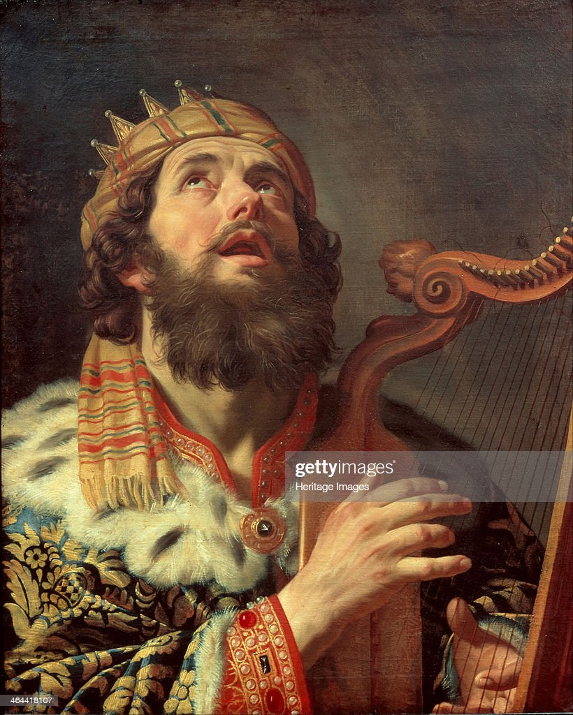 King David Playing the Harp, 1622. Found in the collection of the Centraal Museum, Utrecht.