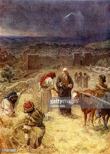 King David purchasing the threshing floor of Araunah the Jebusite 2 Samuel 24 24 25 'And the king said unto Araunah Nay but I will surely buy it of...
