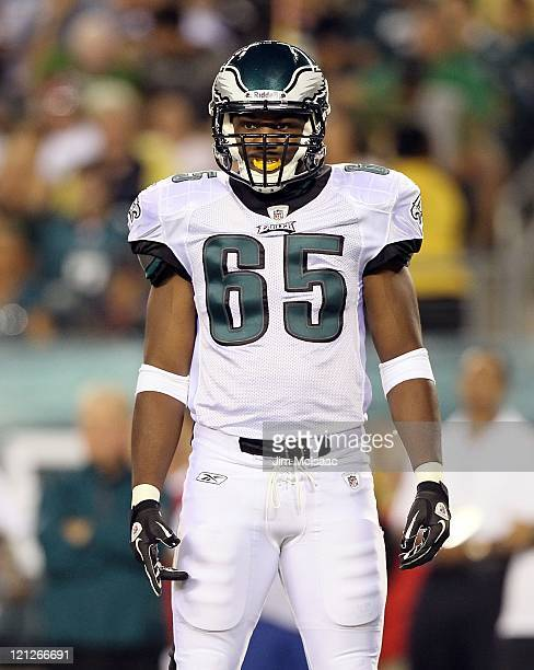 King Dunlap of the Philadelphia Eagles in action against the Baltimore Ravens during their pre season game on August 11, 2011 at Lincoln Financial...