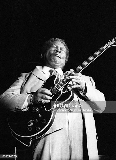 BB King during his performance with U2 at The Point 26/12/89 During U2's 'Lovetown Tour' of 1989 the legendary blues musician joined them on stage at...