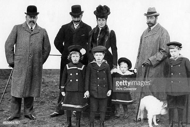 King Edward the Kaiser Queen Alexandra and Prince George 1935 The royal children are the Princess Royal the Duke of York the Duke of Gloucester...