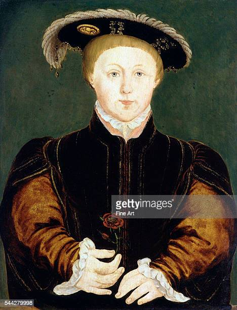 King Edward VI by an unknown artist after Hans Holbein the Younger oil on panel c 1542 1725 x 1225 in National Portrait Gallery London