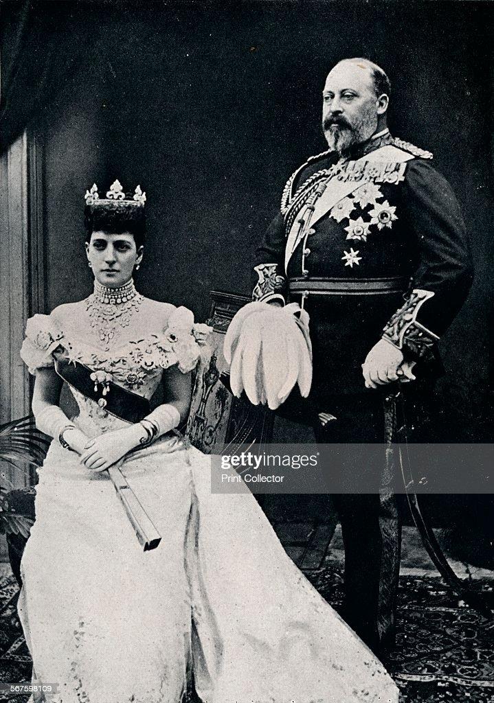 King Edward VII and Queen Alexandra, c1902 (1911) : Foto di attualità