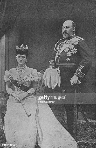 King Edward VII and Queen Alexandra, circa 1902 . From Harmsworth History of the World, Volume 7, by Arthur Mee, J.A. Hammerton, & A.D. Innes, M.A. ....