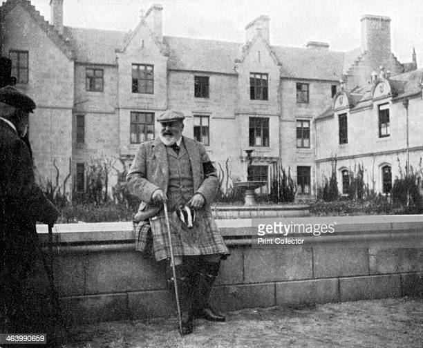 King Edward VII at Balmoral Scotland 1908 From Queen Alexandra's Christmas Gift Book Photographs from My Camera by Queen Alexandra published by The...