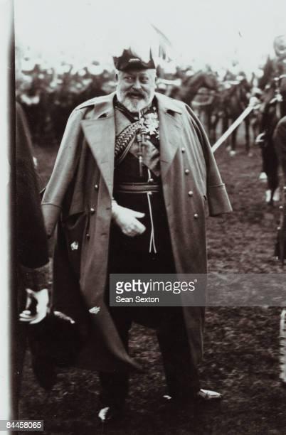 King Edward VII during a visit to Paris, circa 1906.