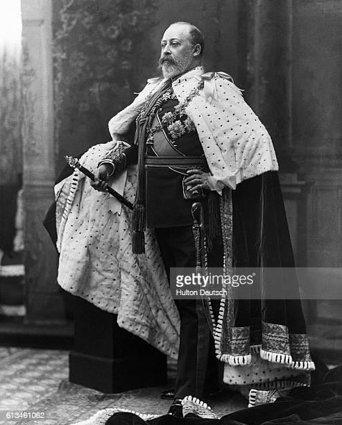 King Edward VII In Coronation Regalia.