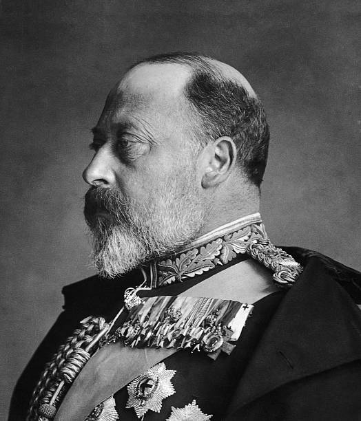 King Edward VII of Great Britain in ceremonial military...