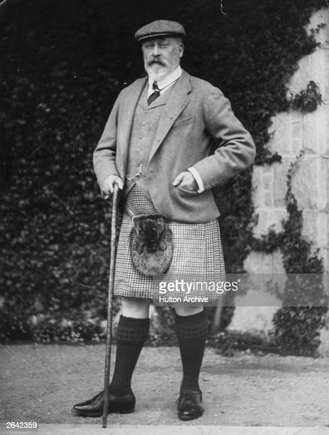King Edward VII, , who ascended the British throne in 1901, at Mar Lodge.