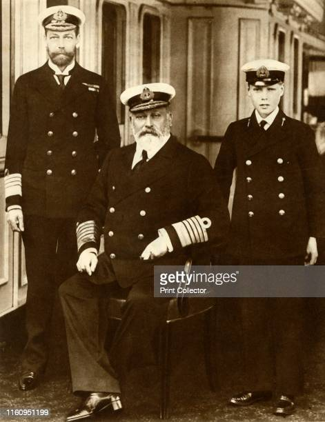 King Edward VII with his son George, Prince of Wales, and grandson Prince Edward . 'Three Generations. On May 6 Edward VII died, and his son...