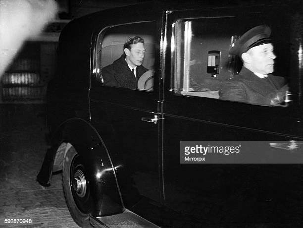 King Edward VIII Abdication crisis Duke Of York soon to be King George VI after the abdication of Edward VIII circa December 1936
