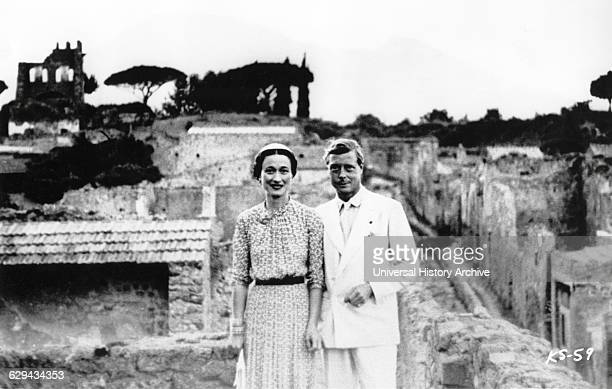 King Edward VIII and Wallis Simpson Portrait while on Mediterranean Holiday from the Documentary Film A King's Story Columbia Pictures 1965