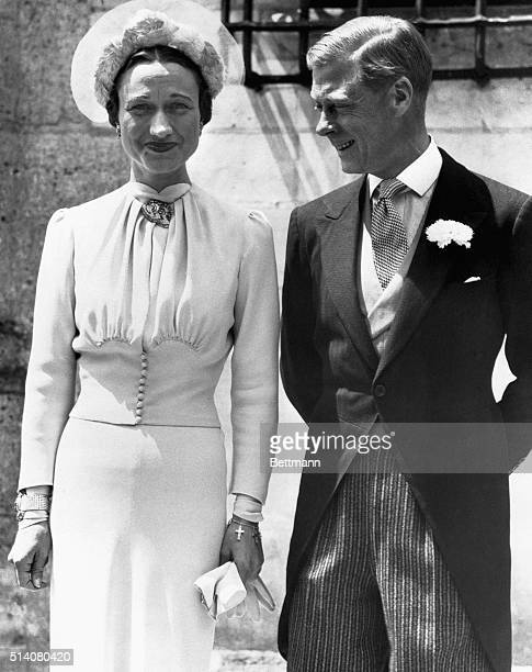 King Edward VIII became the first British king to abdicate the throne for his American divorcee bride Wallace Warfield Simpson. The two stand at...