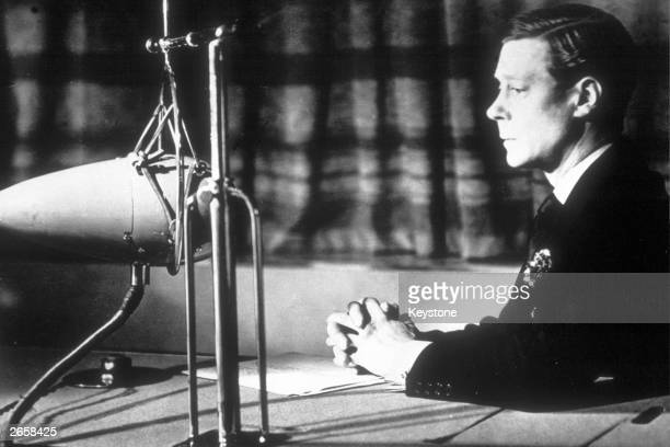 King Edward VIII broadcasting on behalf of the King George V Jubilee Trust 19th April 1935