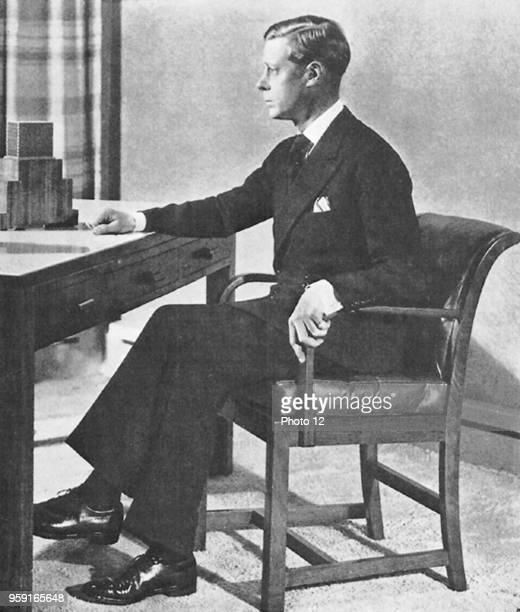 King Edward VIII delivers a speech on the radio after his abdication.