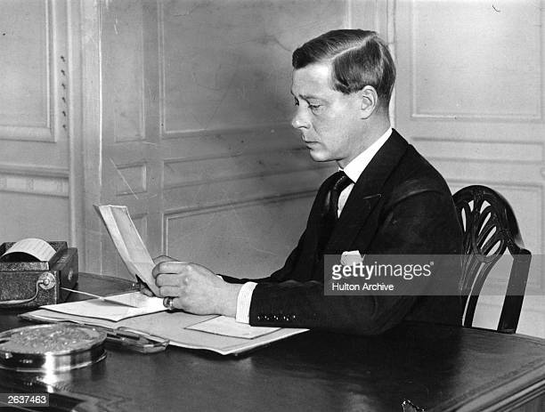 King Edward VIII during his short reign He was created the Duke of Windsor in 1937 after his abdication in December 1936