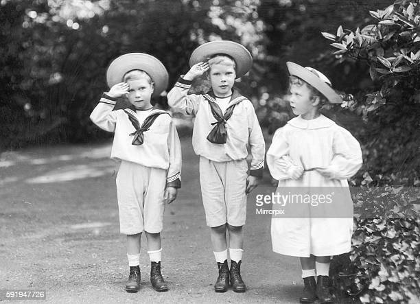 King Edward VIII of England , with his brother Duke of York and sister Mary the Princess Royal in 1901