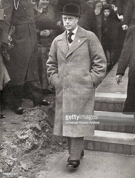 King Edward Viii Visiting South Wales To Inspect The PenYGarn Housing Estate In 1936 Edward Viii Edward Albert Christian George Andrew Patrick David...