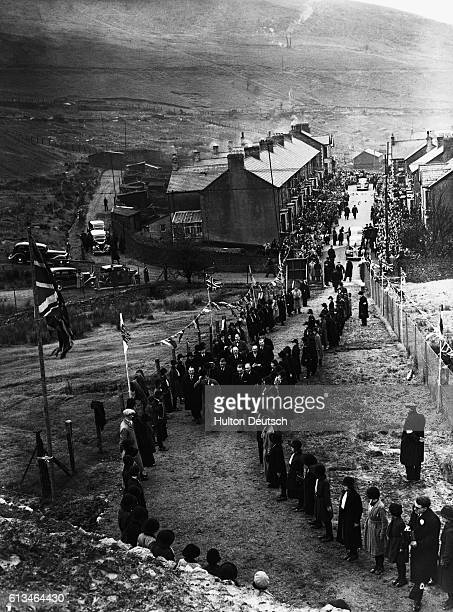 King Edward VIII visits a newly built sports field in Abertillery as part of his tour of South Wales | Location Glebe Sports Ground Abertillery South...