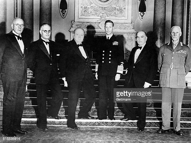 King Entertains Dominion Premiers at Buckingham Palace London England During the conference of Premiers in England His Majesty King George VI...