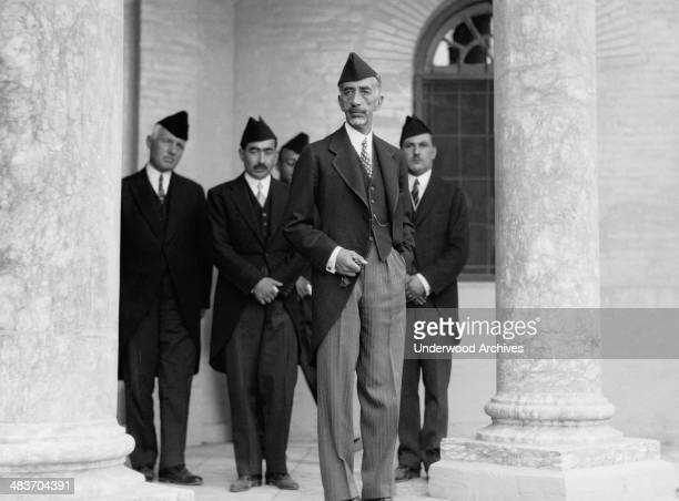 King Faisal at the Royal Palace in Baghdad during the celebration of Iraq becoming a member of the League of Nations Baghdad Iraq October 6 1932