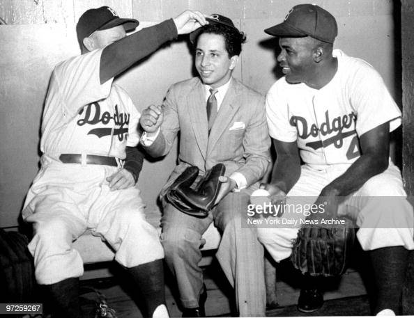 King Faisal Ii Of Iraq In The Brooklyn Dodgers Dugout