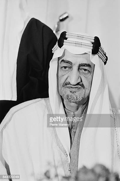 KIng Faisal of Saudi Arabia at a luncheon being held at the Dorchester Hotel, London, 12th May 1967.