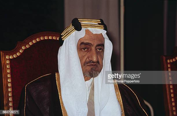 King Faisal of Saudi Arabia pictured at a meeting in London in 1967
