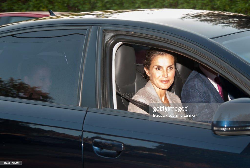 Princess Leonor And Princess Sofia Start School : News Photo