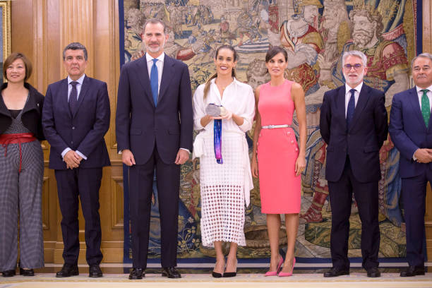 ESP: King Felipe Of Spain Attends Audiences At Zarzuela Palace
