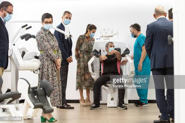 King Felipe and Queen Letizia visit the San Prudencio Foundation on July 17 2020 in VitoriaGasteiz Alava Spain The visit is included in the tour that...