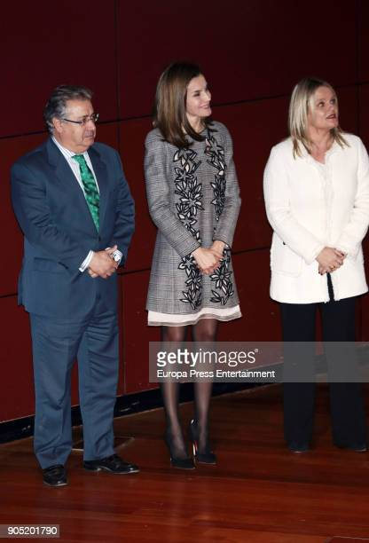 King Felipe of Spain accompanied by Queen Letizia of Spain Mari Mar Blanco and Juan Ignacio Zoido receives Terrorism Victims Foundation Award at...