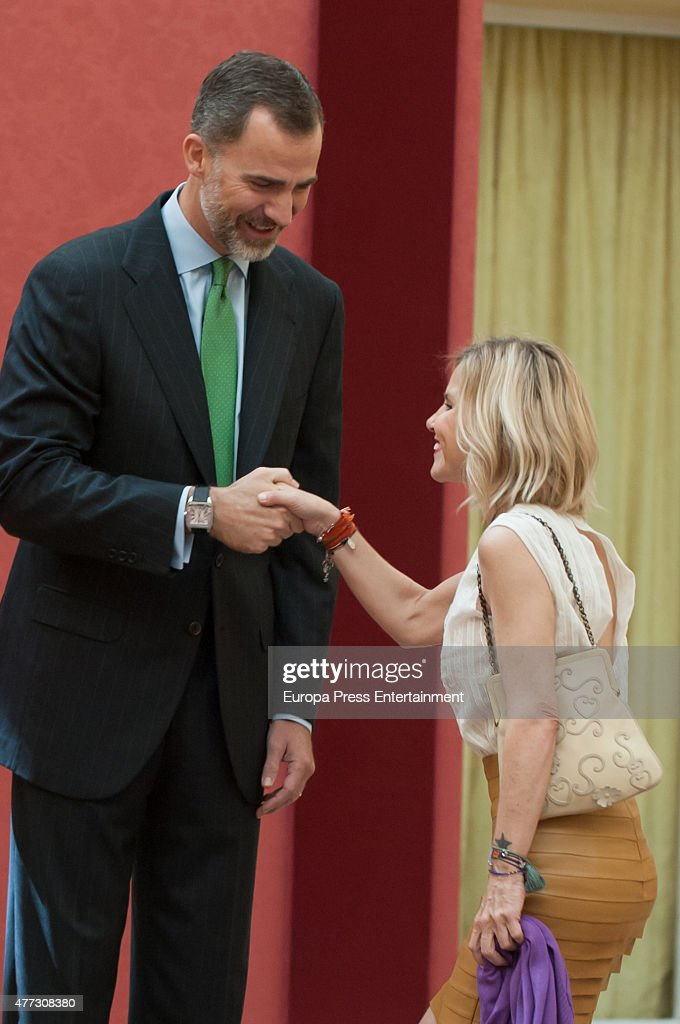 King Felipe of Spain and Eugenia Martinez de Irujo attend the bicentenary of the Council of The Greatness of Spain on June 16, 2015 in Madrid, Spain.