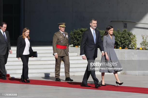 King Felipe of Spain and Queen Lerizia of Spain visit Morocco on February 13, 2019 in Rabat, Morocco.