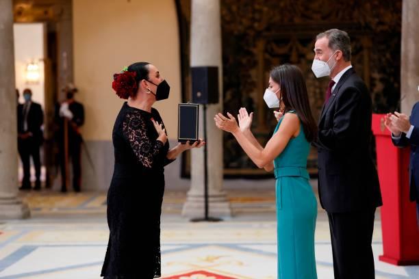 ESP: Spanish Royals Delivers Golden Medals Of Merit In Fine Arts