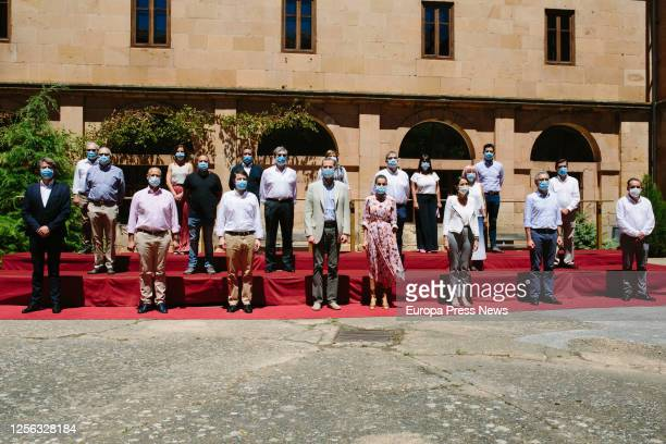 King Felipe of Spain and Queen Letizia of Spain are seen visiting the city of Soria which is celebrating the 900th anniversary of its foundation on...