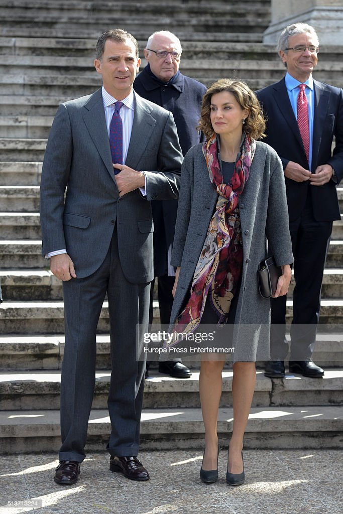 Spanish Royals Attend 'Miguel de Cervantes: de La Vida Al Mito' Opening Exhibition : News Photo