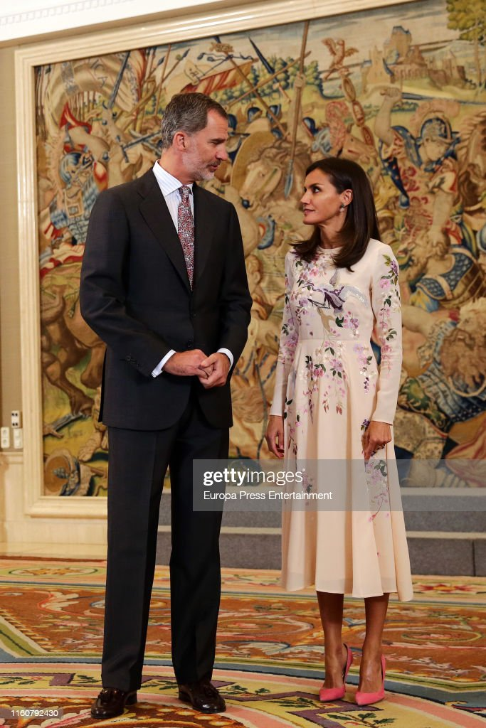 Spanish Royals Attends Audiences At Zarzuela Palace : News Photo