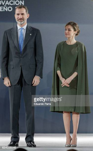 King Felipe of Spain and Queen Letizia of Spain attend 2016 Innovation and Design Awards on February 6 2017 in Alcala de Henares Spain