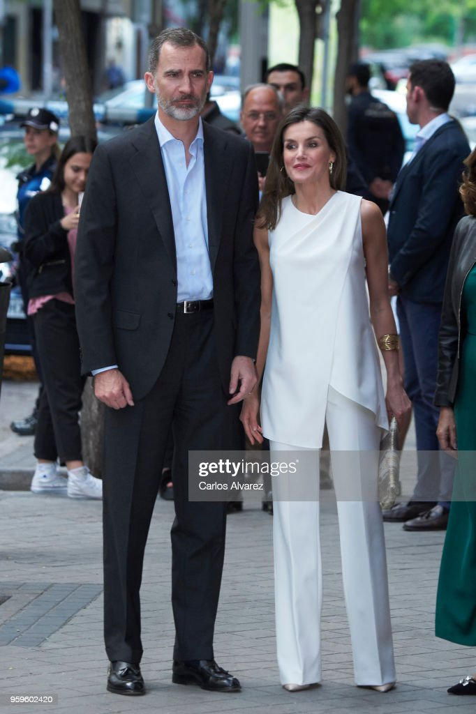 King Felipe VI and Queen Letizia of Spain Attend 'Famelab' 2018