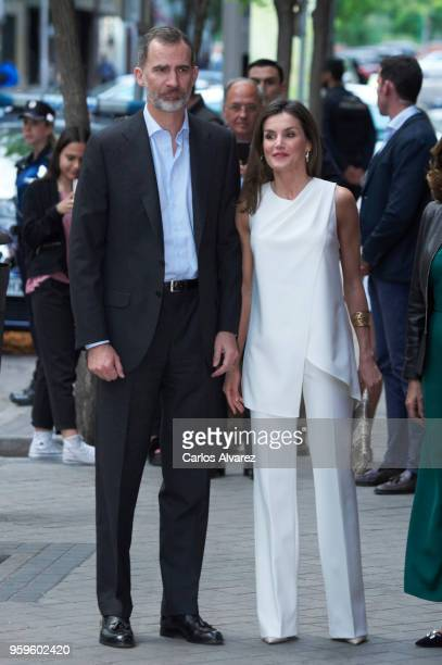 King Felipe of Spain and Queen Letizia of Spain attend 'Famelab Espana 2018' Scientific Monologues presentation at Galileo Galilei Club on May 17...
