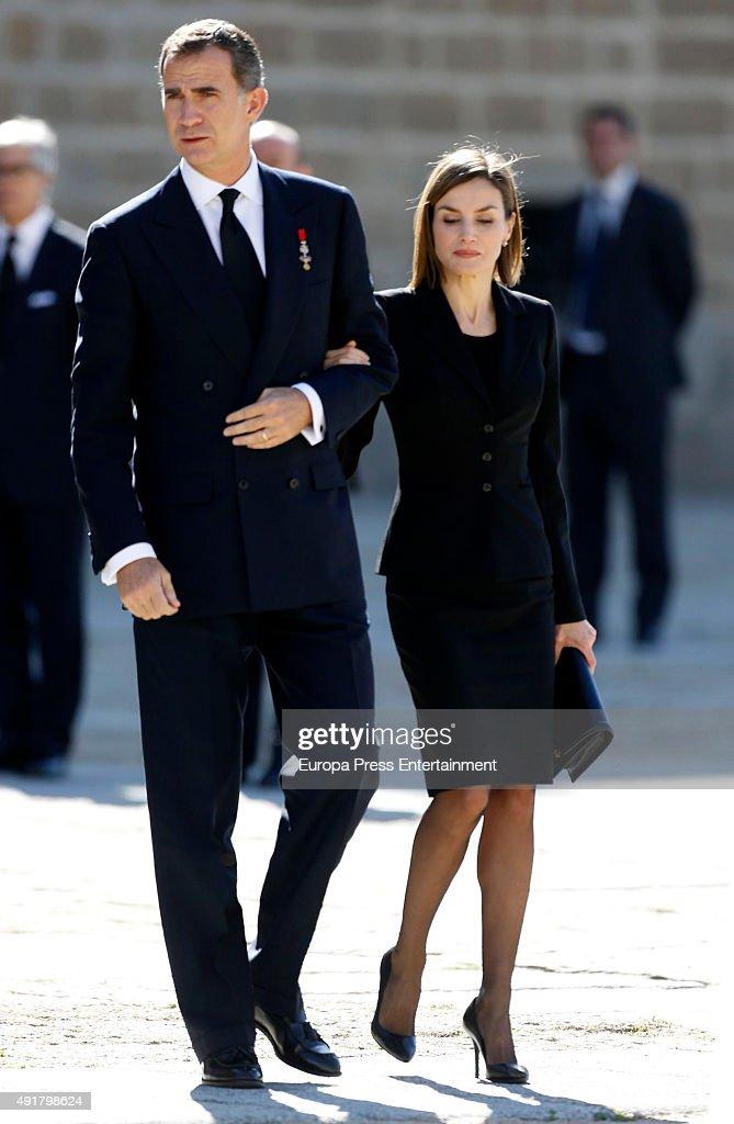 Spanish Royals Attend Corpore Insepulto Mass For Carlos de Borbon dos Sicilias : News Photo