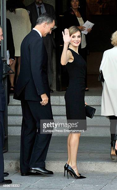 King Felipe of Spain and Queen Letizia of Spain attend the opening of the Royal Theatre new season on September 22, 2015 in Madrid, Spain.