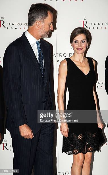 King Felipe of Spain and Queen Letizia of Spain attend the opening of the Royal Theatre new season, the day Queen Letizia is 44 years old on...