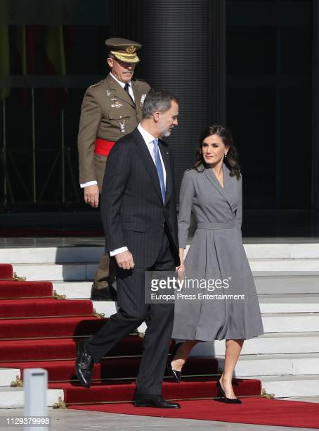 King Felipe of Spain and Queen Letizia of Spain visit Morocco on February 13, 2019 in Rabat, Morocco.