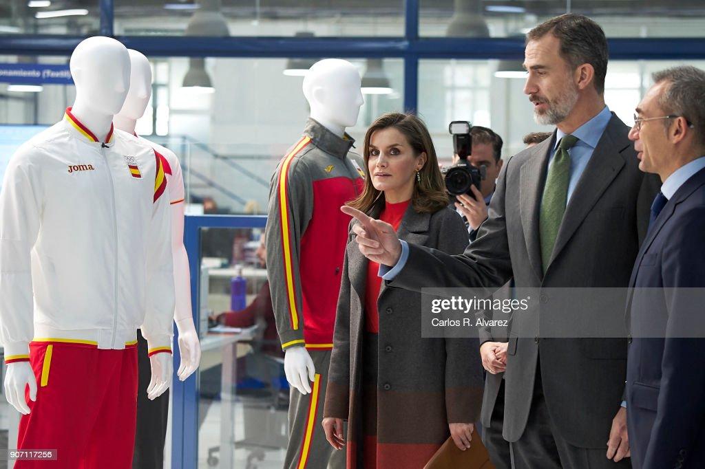 Spanish Royals Visit 'Joma Sport'