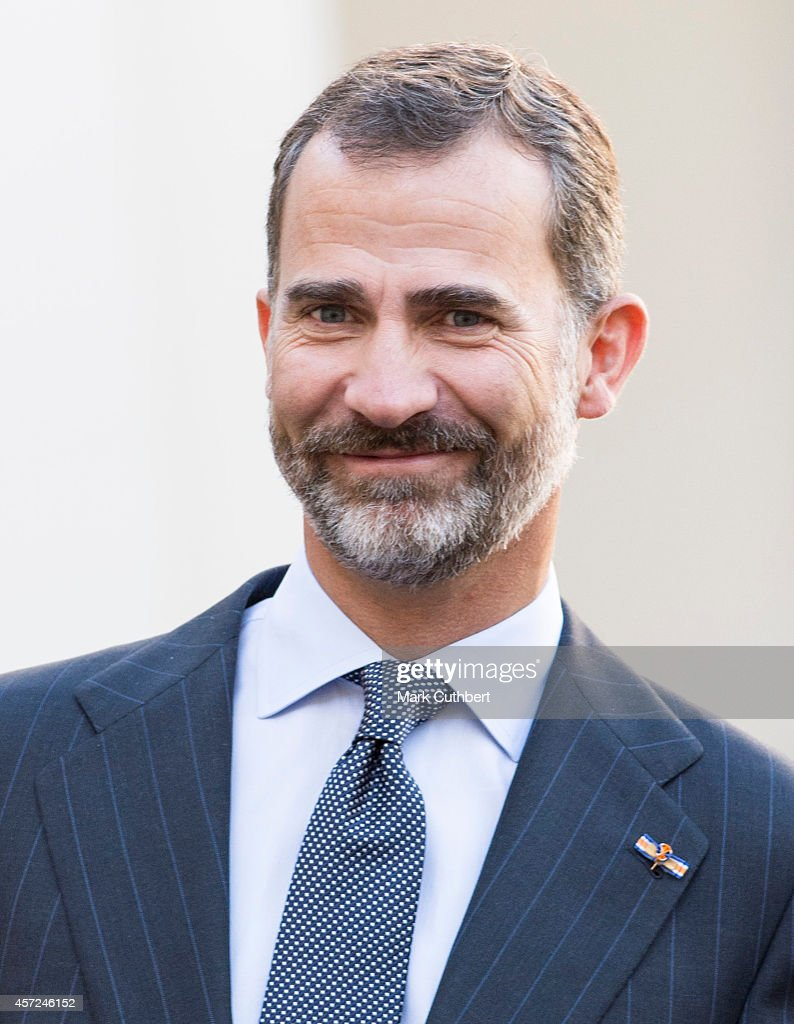 King Felipe of Spain at The Noordeinde Palace on October 15, 2014 in The Hague, Netherlands.