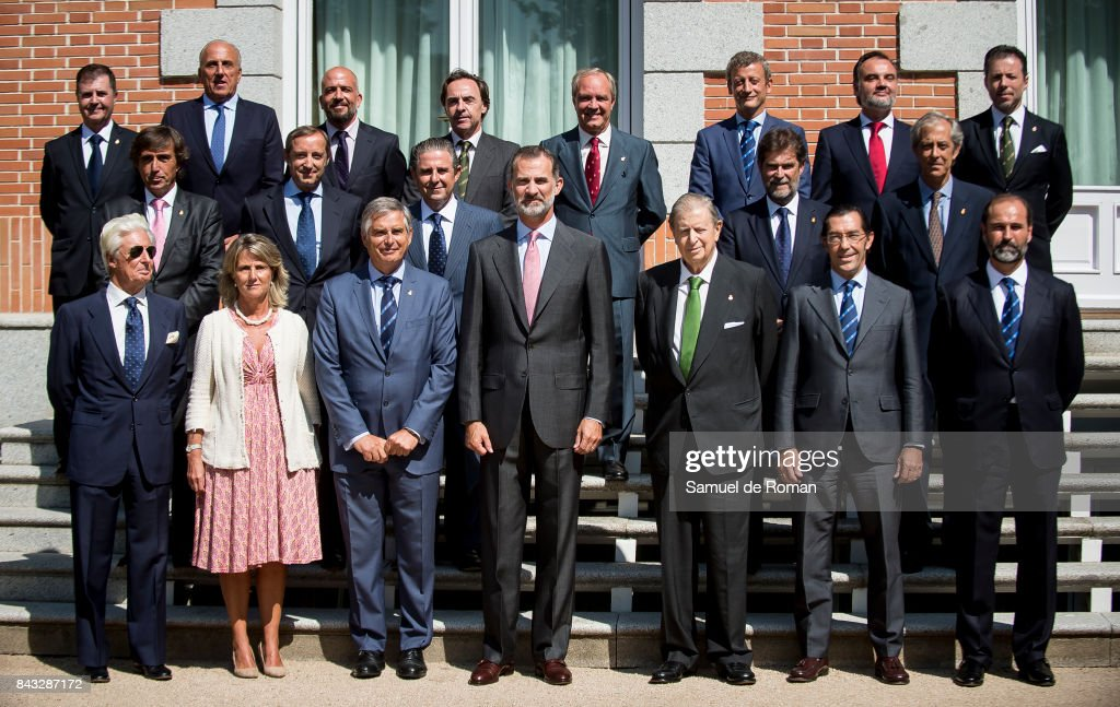 King Felipe Of Spain Attends Audiences At Zarzuela Palace at Zarzuela Palace on September 6, 2017 in Madrid, Spain.